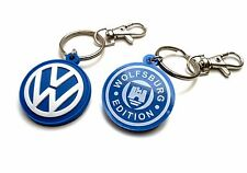 VW LOGO KEYCHAIN VOLKSWAGEN KEY RING BEETLE BUS PASSAT GOLF JETTA VR6 GTI 2-side