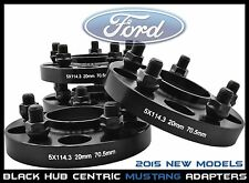 2015 Ford Mustang 20 MM Thick Black Hub Centric Wheel Spacers Adapters 14x1.5