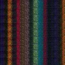 NORO ::Kureyon #368:: wool knitting yarn Black-Wine-Teal-Mauve-Purple-Orange