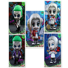 New 5 PCS Q Version Suicide Squad Model Doll Harley Quinn Joker Statue A Set Toy