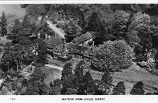 Air Aerial View Beatrice Webb House Dorking Surrey unused RP pc Aero Pictorial