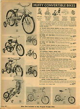 1955 PAPER AD Huffy Convertible Monark Bicycles Castelli Vespa Sport Bike