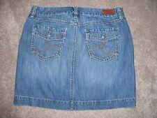 """Tommy Hilfiger Women Denim Skirt 8 100% Cotton 32"""" Waist 17"""" Length SK12"""
