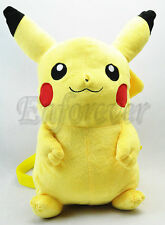 "New Pokemon 16.5"" Very Cute Pikachu Plush Backpack Soft Bag^PC1568"
