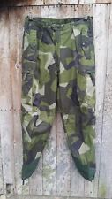 SWEDISH SWEDEN M90 PATTERN CAMO TROUSERS - BUSHCRAFT - 30 INCH WAIST  - NEW SL