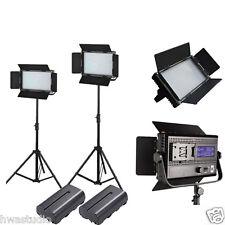 LED Lumière LED 576avl studio panneau v-mount écran tactile LCD plaque batterie 2kit