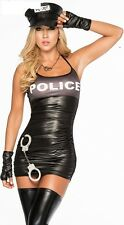 Womens Sexy Lingerie Police Cop Dress Uniform Cosplay Fancy Dress Costume Outfit