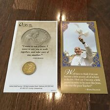 Catholic Pope FRANCIS Pocket Prayer BRONZE Coin/Medallion + paperwork