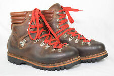 Vintage Womens Hanwag Mountaineering Boots Brown Leather 6 UK 7 US Steampunk