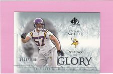 2002 UPPER DECK SP LEGENDARY CUTS RAONALL SMITH RC  (Chargers)  #/1100