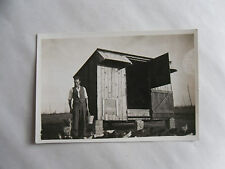 1930s B/W Photograph. Man with Alsatian Dog at a Henhouse/ Farm. Faversham, Kent