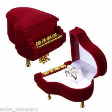 1Pc Classical Piano Ring Box Earring Pendant Jewelry Treasure Case Storage Gifts