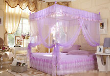 H Sweet Dream 4 Corners Post Bed Canopy Mosquito Net Twin Queen Cal King Size