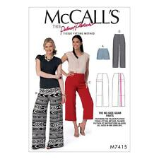 McCALL'S SEWING PATTERN Misses' No-Side-Seam Shorts Capris Pants SIZE OSZ M7415