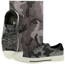 NEW VALENTINO GARAVANI CURRENT LEATHER & WOOL CAMOUFLAGE SNEAKERS SHOES 42.5
