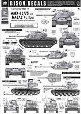 Bison Decals 1/72 AMX-13/75 and M48A2 PATTON Tanks Six Day War 1967