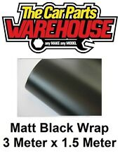 NEW Premium Quality Easyfit 3D MATT BLACK Wrap Vinyl Bubble Free 3M x 1.52M Roll