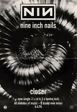 "NEWSPAPER CLIPPING/ADVERT 11/6/94PGN27 15X11"" NINE INCH NAILS : CLOSER"