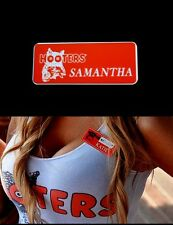 Samantha Hooters Girl Uniform Nametag cheerleader Waitress Pin Badge