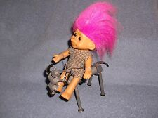 """6"""" RUSS TROLL DOLL ON STEEL NUTS & BOLTS HAND MADE HOBBY HORSE - WOW!!"""
