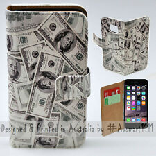 Wallet Phone Case Flip Cover for Apple iPhone 6 / 6S - US Dollar 100 Notes Bill