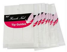 "Nail Art French Manicure Guides ""Curved"" Half Moon Styles Tips Stickers Stencil"
