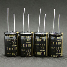4PCS Japan ELNA 220UF/50V  SILMIC II Series High-END HIFI Audio Capacitor CAP