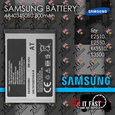 100% GENUINE SAMSUNG BATTERY AB403450BU 800mAh for E2510, E2550, M3510, S3500