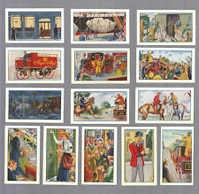 CIGARETTE CARDS.W.H.& J.Woods Tobacco.ROMANCE OF THE ROYAL MAIL.(1933).Set of 25