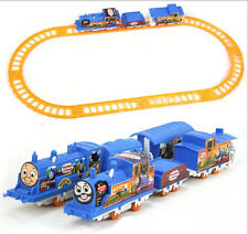 Thomas Electric Trains 3 Cars 8 Tracks Sets Kid Railway Track Slot Running Toys