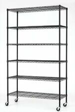"82""x48""x18"" 6 Tier Layer Shelf Adjustable Steel Wire Metal Shelving Rack 76"