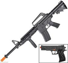 Airsoft Sniper Rifle AR Black Handgun Pistol 6mm BB Gun Forward Grip Combo Pack