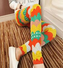 Rainbow arc pattern leggings -  6 - 10 UK, circles, pop, bright, happy, kawaii