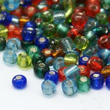 LOT DE 500 PERLES DE ROCAILLE MULTICOLORE TRANSLUCIDE Ø 4 mm 6/0 CREATION BIJOUX