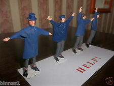 "THE BEATLES ""LEAD"" HAND PAINTED FIGURES ""HELP ! "" WITH BACKING CARD SUPERB !"