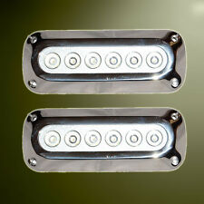 2 x 18W White Underwater LED Marine/Boat Light S/S 12v