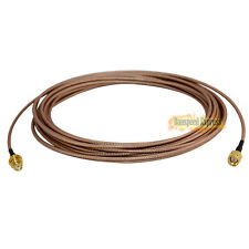 6m SMA Male Jack to Female Nut Bulkhead RF Extension Pigitail Cable RG316 New