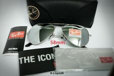 Ray Ban Aviator Sunglasses ORB3025-3N-003-Silver Frame-Silver Mirror 58mm Lenses