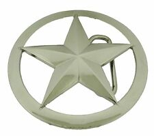 Lone Star Texas Western Sheriff Ranger Badge Belt Buckle Silver Girly mens women