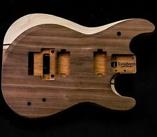 Bevel Top Super Strat HxH Floyd Walnut Maple Unfinished Stratocaster Guitar Body