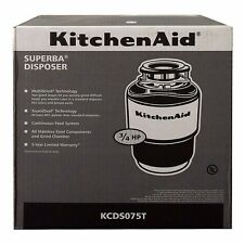 KitchenAid  Garbage Disposal 3/4 HP 40oz KCDS075T NEW! SHIPS FREE