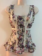 Guess Spring Romantic Top Size Medium