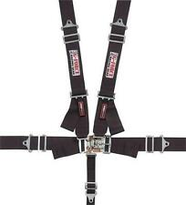 G-Force 6000BK 5 Point Safety Harness - Latch Lock - SFI Approved - Black