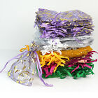 NEW 100 pcs Organza Jewelry Gift Pouch Bags Mixed Color 7x9cm