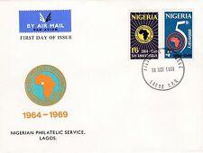 NIGERIA 1969 AFRICAN Devel BANK Stamp Set 2v Unaddressed FIRST DAY COVER Ref:488
