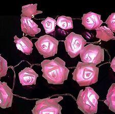 30 Rosa LED Tira de Luces de Hadas Rosa Flor Interior Navidad Navidad Fiesta Dormitorio