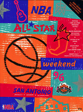 1996 NBA BASKETBALL ALL STAR GAME PROGRAM WITH ALL ATTACHED INSERT CARDS INSIDE
