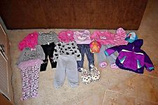 Toddler Girl's 17 Piece Mixed Clothing Lot Coats, Outfits, Hats EUC Sz. 3T