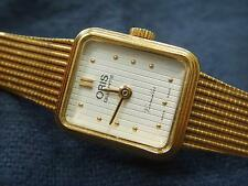 LADIES ORIS VERSAILLES GOLD TONE QUARTZ WATCH & BRACELET STRAP