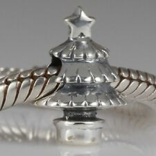 CHRISTMAS TREE Genuine 925 sterling silver charm bead fits European bracelet